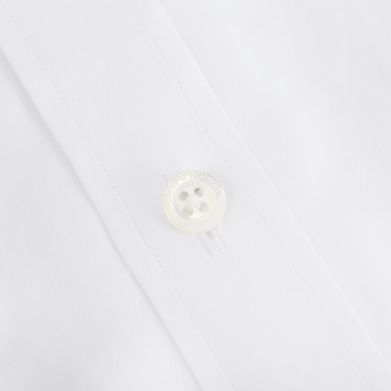 White Pinpoint Tailored Fit Shirt