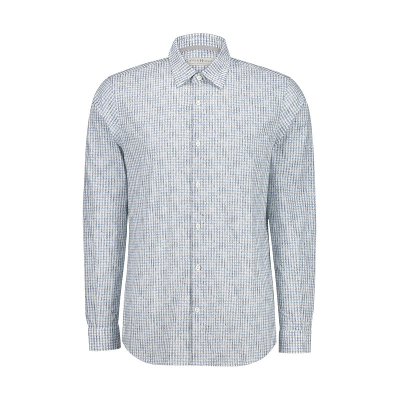 Pattern Check Casual Shirt