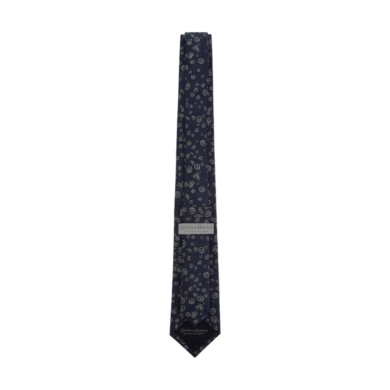 Abstract Swirl Jacquard Silk Tie