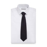 Diamond Cross Jacquard Silk Tie