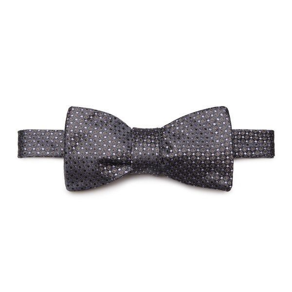 Grey Silk Jacquard Bow Tie