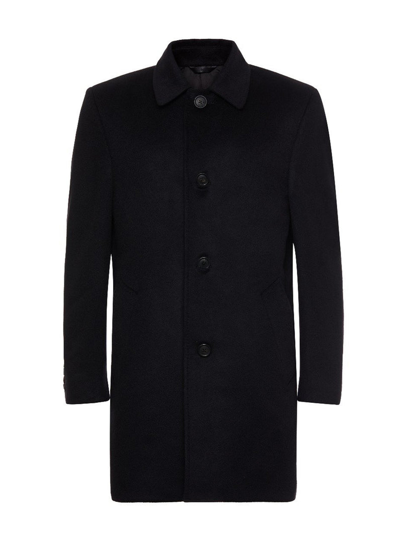 Black Cashmere Overcoat