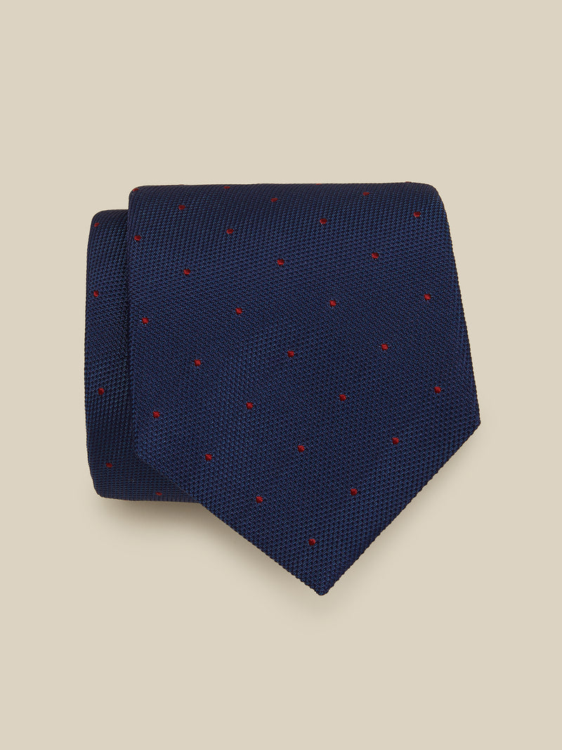 TEXTURED-SUMMER-SPOT-SILK-TIE
