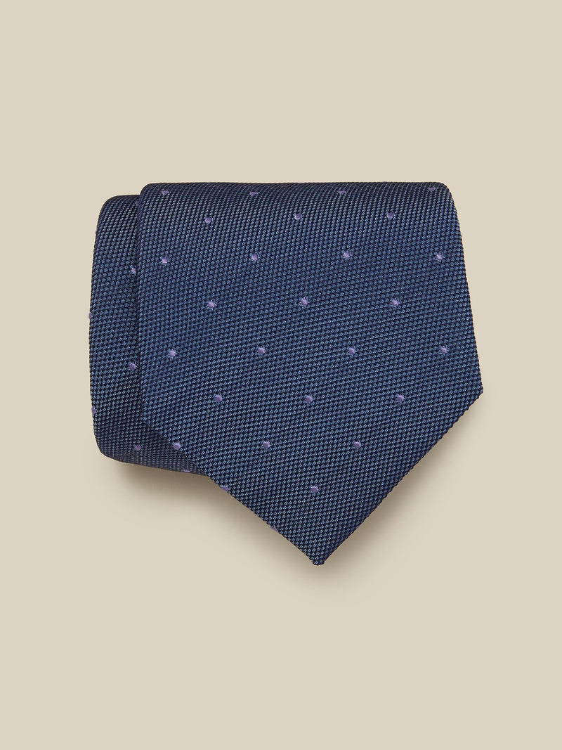 Textured Summer Spot Silk Tie