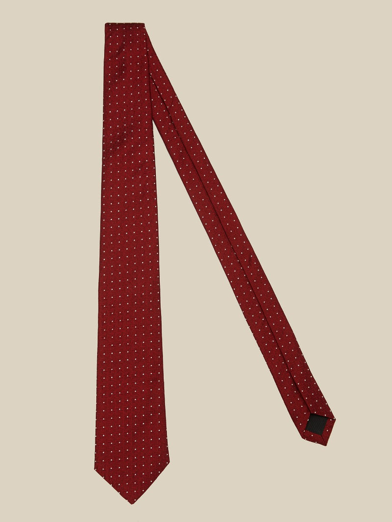 Textured Spotted Silk Tie