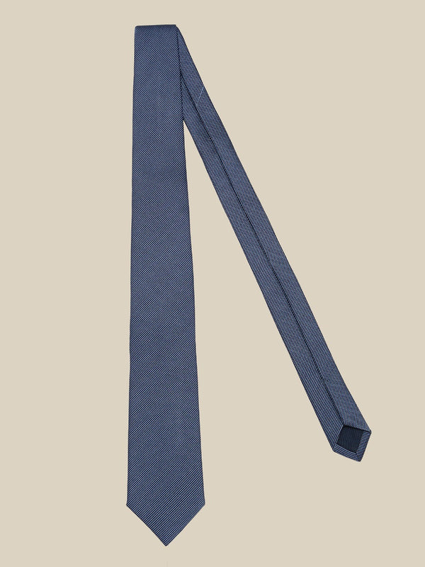 Sky Blue Silk And Cotton Mogador Tie