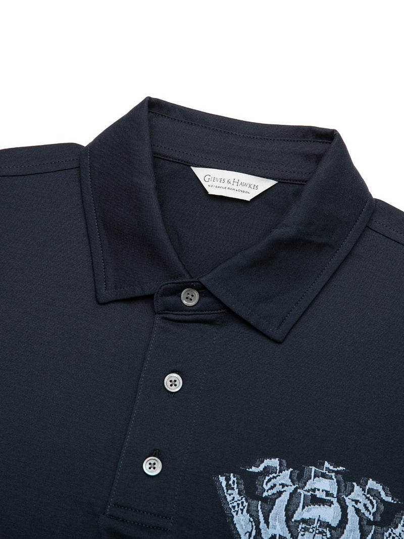 1771 Crown Print Polo Shirt
