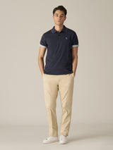 Short Sleeve Pique Accent Polo