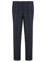 Wool Cashmere Blend Glen Plaid Suit