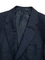 Wool Cashmere Blend Patterned Suit Jacket