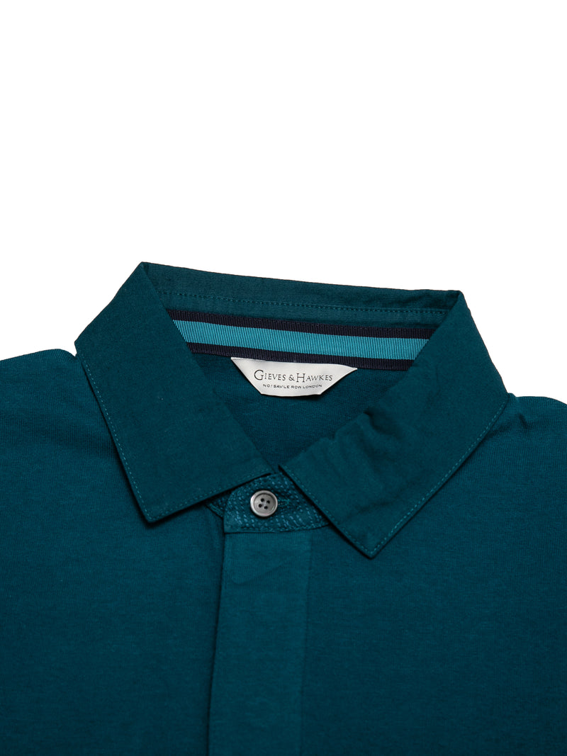 Cotton Jersey 1771 Crown Long-sleeve Polo