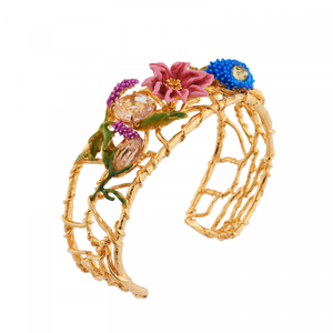 Cuff Bunch of Flower Symphony Bangles