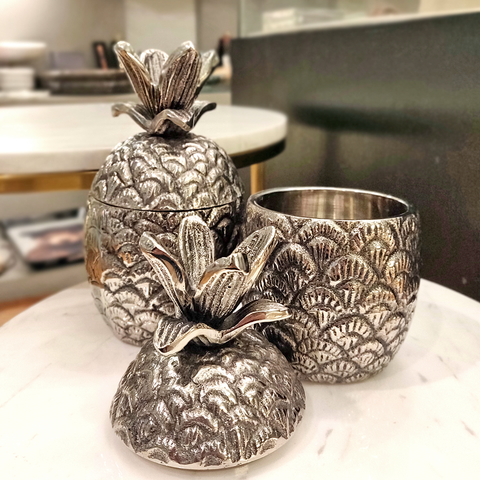 Silver Pineapple with Lid