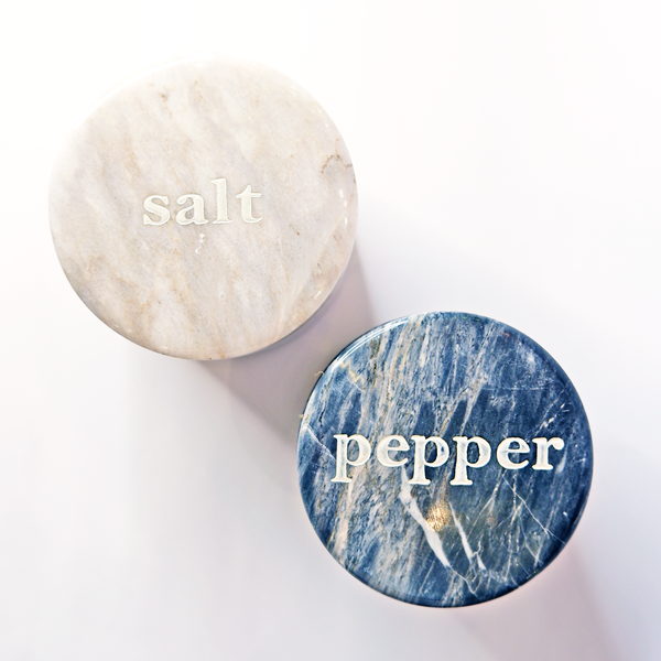 Salt White Marble Container