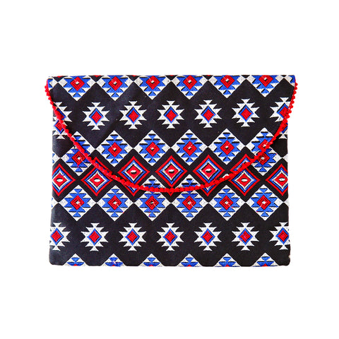 Embroidered Clutch with Pattern