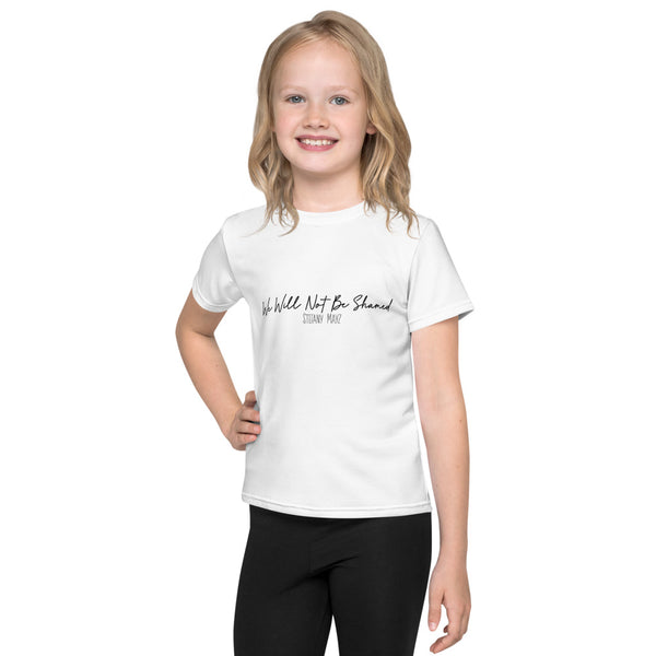 """We Will Not Be Shamed"" Kids T-Shirt"
