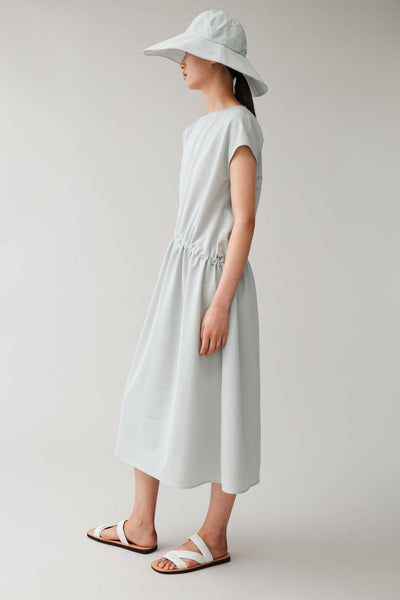 DRESS WITH DRAWCORD WAIST