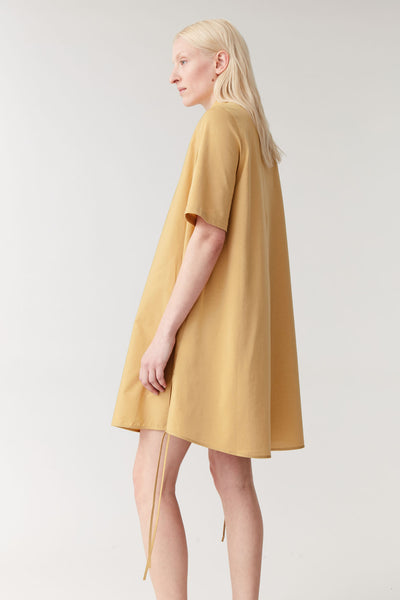 A-LINE COLLARED SHIRT DRESS