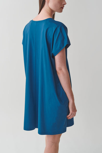 ORGANIC COTTON V-NECK RELAXED A-LINE DRESS