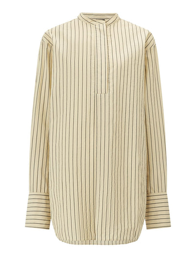 Aufray Cotton Silk Stripe Blouse