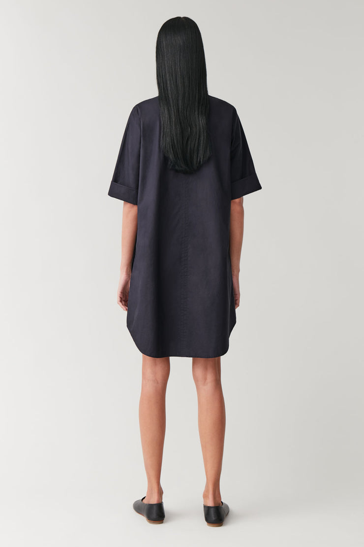 A-LINE DRESS WITH PLEAT
