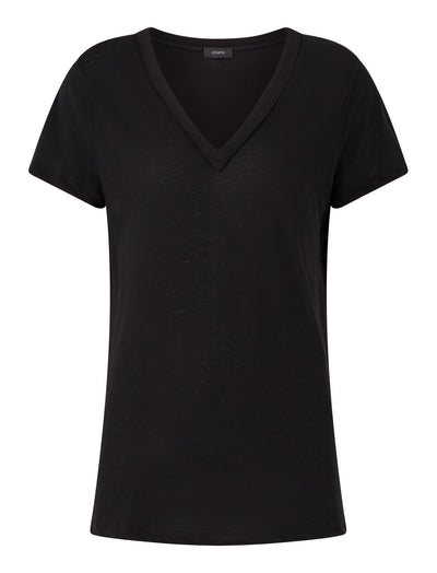 V Neck Light Cotton Jersey Tee