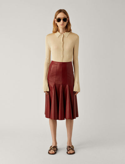 Sid Nappa Leather Skirt