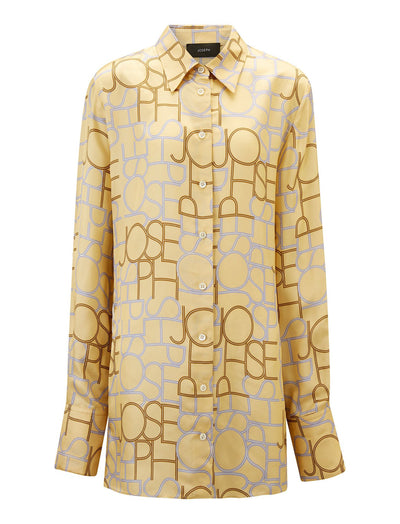 Beatrice Viscose Small Logo Blouse