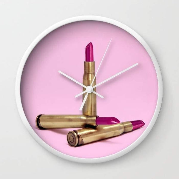wall clock decor  wall clock decor ideas lipstick bullet