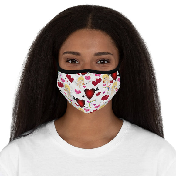Cupid's Arrow Face Mask (White)