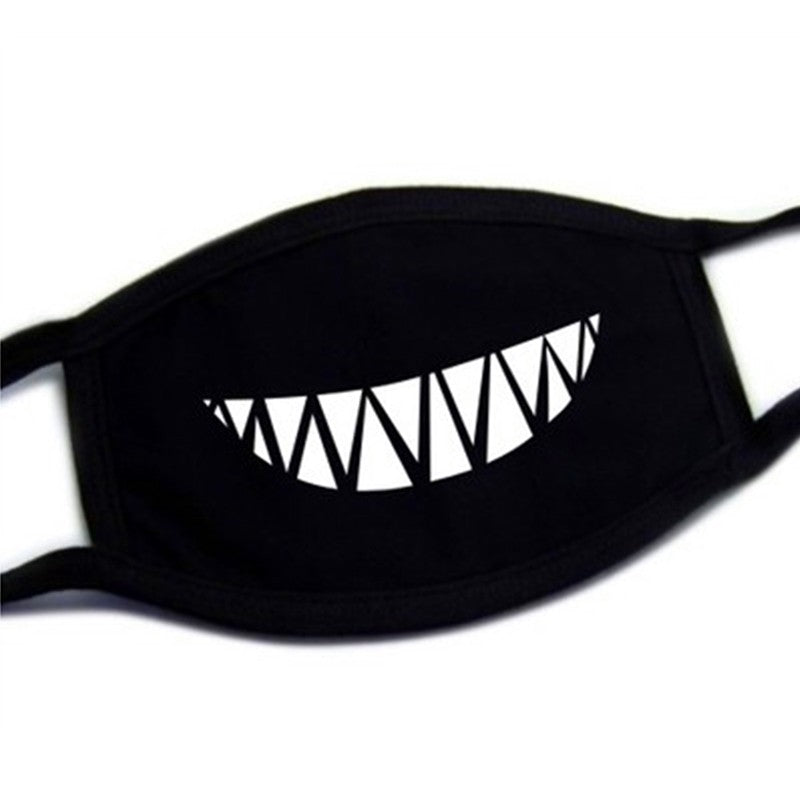 Lovely Teeth Black Cotton Dust Mask