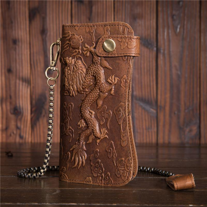 Dragon Grain Leather Wallet