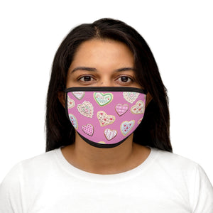 Valentine's Day Cookies Face Mask(Pink)