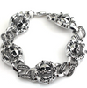 Rock Band Personality Men's Metal Bracelet Round Skull