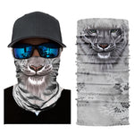 Sunscreen scarf animal tiger print riding