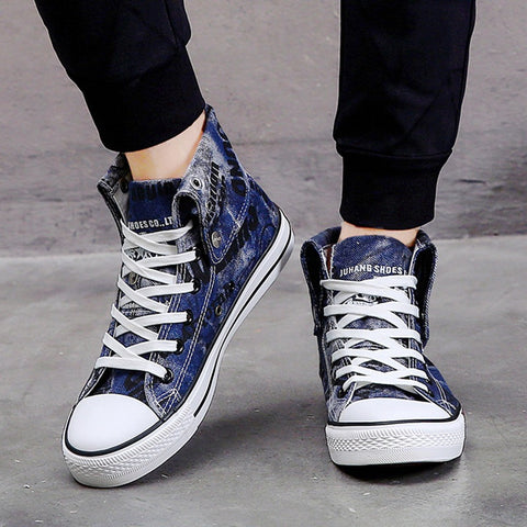 High-top canvas shoes for lovers