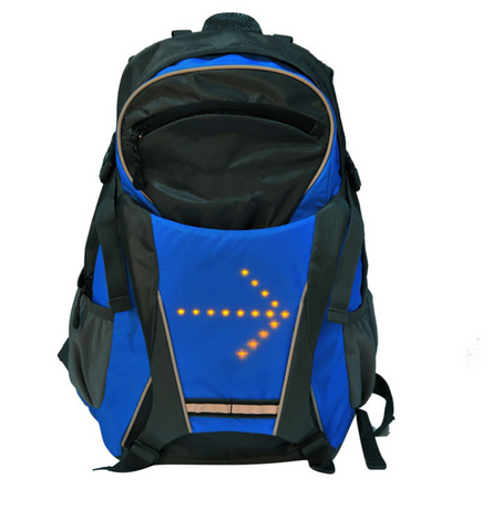 Wireless remote control LED light warning backpack