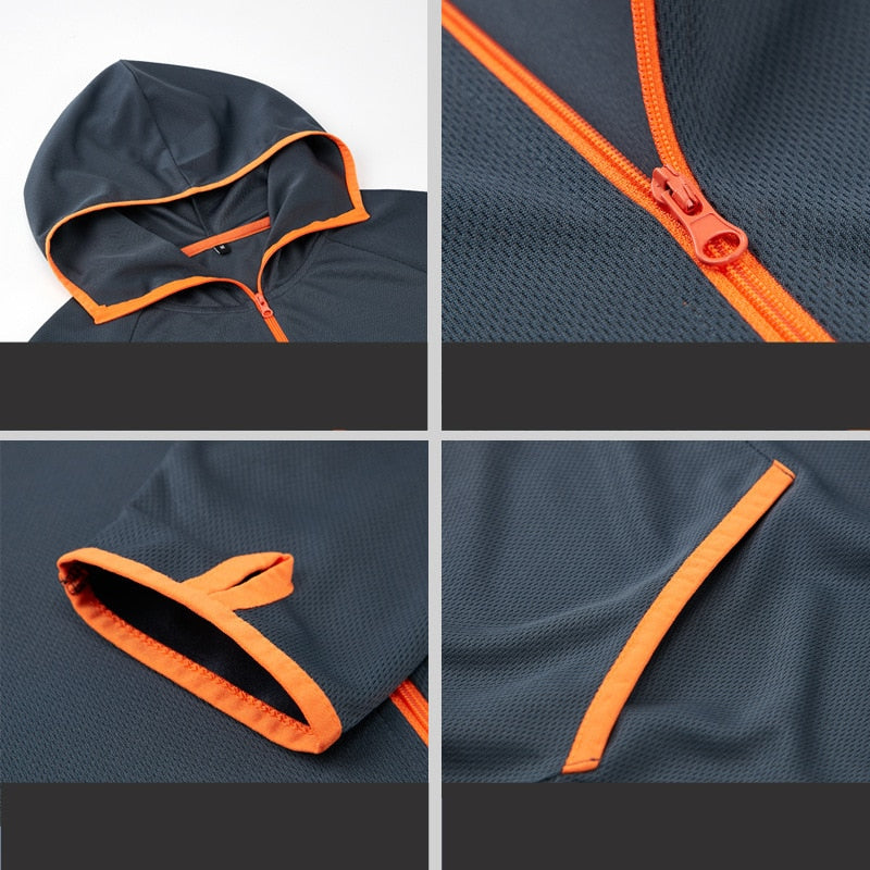 Hydrophobic Nano Waterproof Anti-Fouling Anti-Dirty Ice Silk Outdoor Camping Jacket