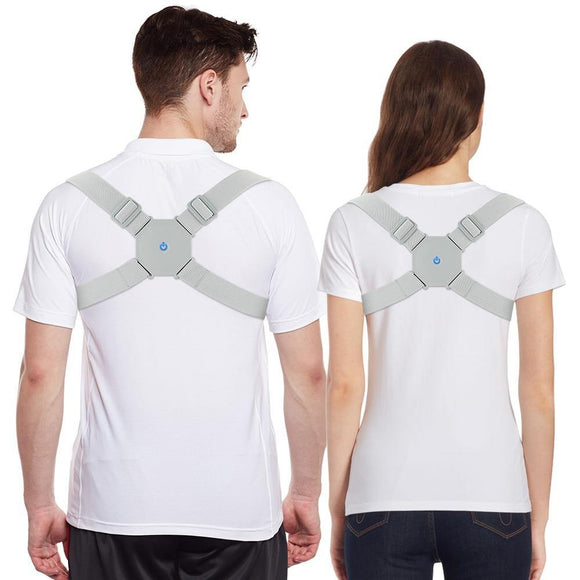 Adjustable Intelligent Smart Posture Trainer Upper Back Brace Clavicle Support for Pain Relief - Virginia Lee