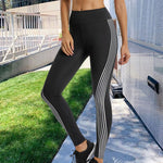 Women's Reflective Material Printed Fitness Leggings