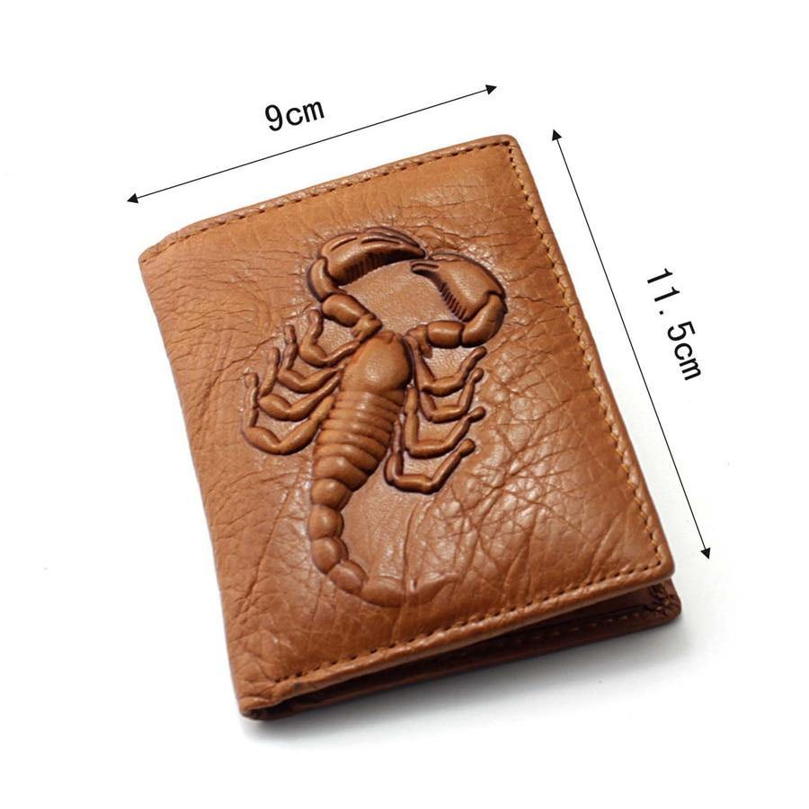 Genuine leather 3D Scorpion Wallet