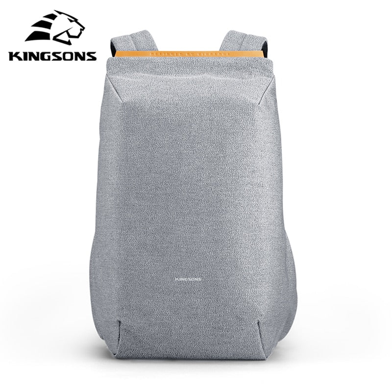 "Kingsons 15"" Laptop Backpack External USB Charge Computer  Anti-theft Waterproof"