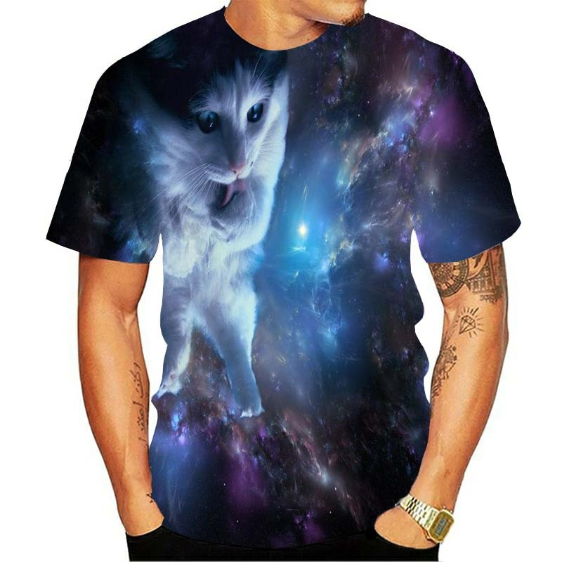 Spaced Out Kitty 3D T-Shirt
