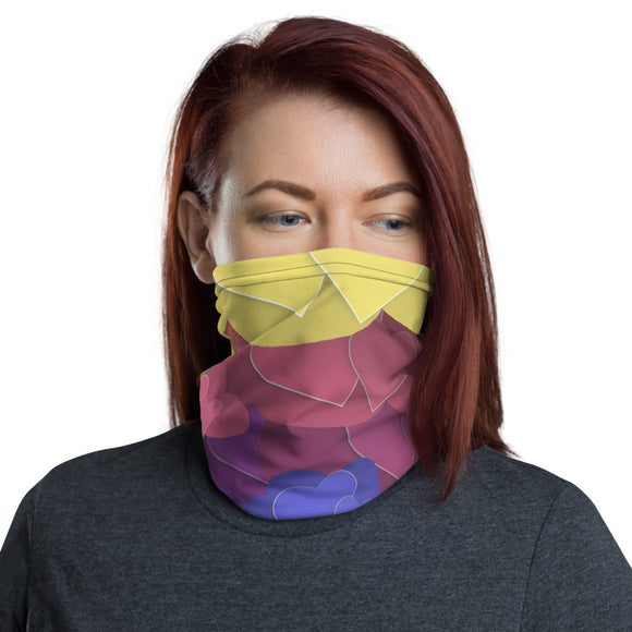 Rainbow Hearts Neck Gaiter