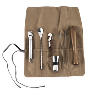 Bar Tools-Bartending Kits-7-Piece Canvas Cocktail Kit-Foster & Rye-Dramson