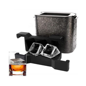 Bar Ice-Clear Ice-Crystal-Clear Ice Cube Maker (Double)-Dramson-Dramson