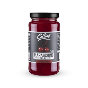 Cocktail Cherries-Collins Maraschino Cherries with Stems-Collins-10 oz-Dramson