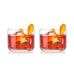 Crystal Negroni Glasses (Set of 2)-Viski-Dramson
