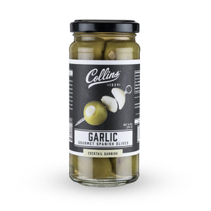 Cocktail Olives-Collins Garlic Queen Olives (5 oz)-Collins-Dramson