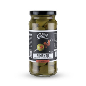 Cocktail Olives-Collins Gourmet Martini Pimento Olives-Collins-5 oz-Dramson